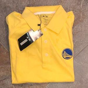 NWT men's Golden State Warriors golf tee - size M